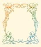 Art deco frame with iris. Stock Photography