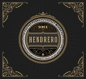 Art deco frame and label design, Resource for Hotel, Spa, Restau Stock Photography