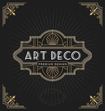 Art deco frame and label design Royalty Free Stock Photos