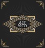 Art deco frame label design Royalty Free Stock Image