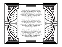 Art deco frame template isolated on white background stock illustration