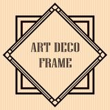 Art Deco Frame. Vintage retro frame in Art Deco style. Template for design Vector Illustration