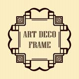 Art deco frame. Vintage retro frame in Art Deco style. Template for design Royalty Free Stock Photo
