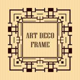 Art deco frame. Vintage retro frame in Art Deco style. Template for design Royalty Free Stock Image