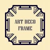 Art deco frame. Vintage retro frame in Art Deco style. Template for design Stock Photo