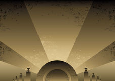 Art Deco Futurist style background design. Vector format and fully editable Stock Photography
