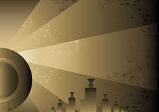 Art Deco Futurist style background design Royalty Free Stock Photo