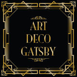 Art Deco gatsby Fotografia Stock