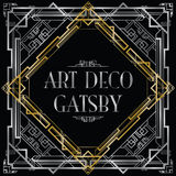 Art Deco gatsby Stockbild