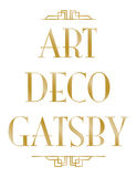 Art Deco gatsby Stockbilder