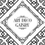 Art deco gatsby stijl Stock Afbeeldingen