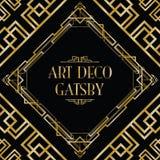 Art Deco gatsby styl Obrazy Royalty Free