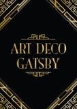 Art Deco gatsby styl Zdjęcia Royalty Free
