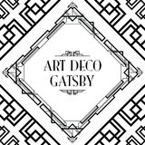 Art deco gatsby style Stock Images