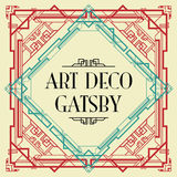 Art deco gatsby style Stock Photos
