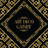 Art deco gatsby style Royalty Free Stock Images
