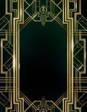 Art Deco Gatsby Wielki tło Obrazy Stock