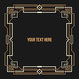 Art Deco geometric border Stock Photo
