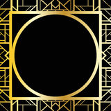 Art Deco Geometric Frame (1920 S Style), Vector Illustration Stock Photography