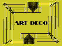 Art deco geometric frame. Retro background in style 1920s, 1930s. Vector Stock Image
