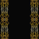 Art deco geometric frame Stock Photos