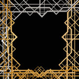 Art deco geometric frame Stock Photos