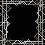Art deco geometric frame Stock Images