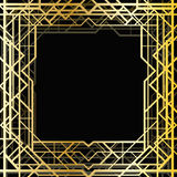 Art deco geometric frame. (1920s style Royalty Free Stock Photography