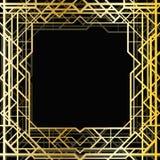 Art deco geometric frame Royalty Free Stock Photography