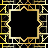 Art deco geometric frame Royalty Free Stock Photo
