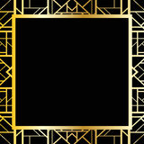 Art deco geometric frame (1920's style) Stock Photos