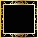 Art deco geometric frame (1920's style), vector illustration Stock Photography