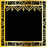 Art deco geometric frame (1920's style), vector illustration Royalty Free Stock Photo