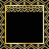 Art deco geometric frame (1920's style) Stock Image