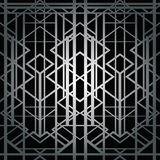 Art deco geometric pattern. (1920s style Royalty Free Stock Image