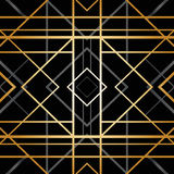 Art deco geometric pattern Royalty Free Stock Photography