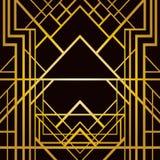 Art deco geometric pattern. (1920s style Stock Images