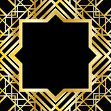 Art deco geometric pattern Stock Photography