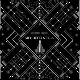 Art Deco Geometric Pattern Modern Silver Background