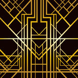 Art deco geometric pattern Stock Image