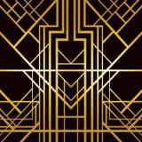 Art deco geometric pattern. (1920s style Stock Image