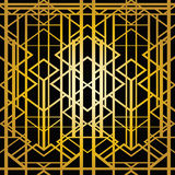 Art deco geometric pattern Stock Photo