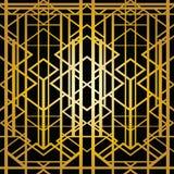 Art deco geometric pattern. (1920s style Stock Photo