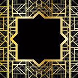 Art deco geometric pattern. (1920s style Royalty Free Stock Images