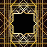 Art deco geometric pattern Stock Images
