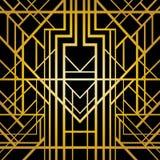 Art deco geometric pattern. Vector illustration stock illustration