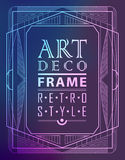 Art deco geometric. Vintage frame can be used for invitation, congratulation Vector Illustration