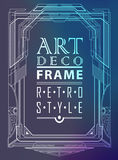 Art deco geometric. Vintage frame can be used for invitation, congratulation Stock Illustration