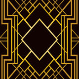 Art deco geometrisch patroon Stock Foto's
