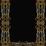 Art Deco geometryczna rama Fotografia Royalty Free
